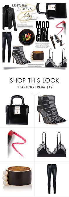 """Modern girl!"" by ornellag ❤ liked on Polyvore featuring Dsquared2, Jimmy Choo, Lapcos, LoveStories, Maison Mayle, LE3NO, Versace and modern"