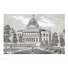 Southern view of the State House in Boston Canvas Art - (36 x 24)