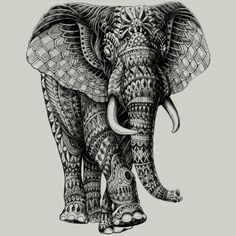 Ornate Elephant 2.0 is a Men's T Shirt designed by BioWorkZ to illustrate your life and is available at Design By Humans