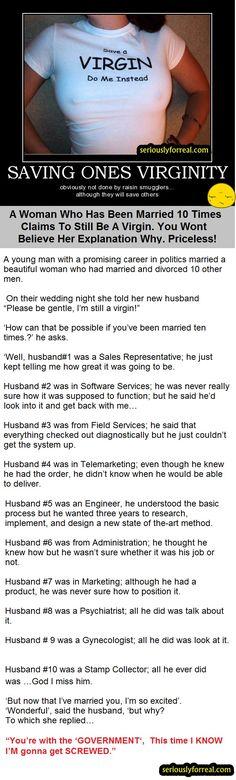 Classic wedding joke!