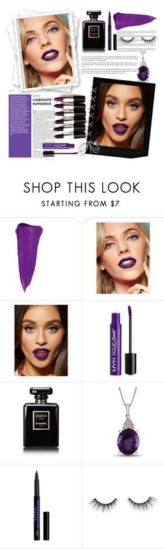 """""""Purple Passion"""" by ninacarrillo ❤ liked on Polyvore featuring beauty, Charlotte Russe, NYX, Chanel and tarte"""