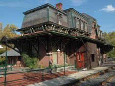 Main St. Depot, Bethlehem PA is now the The Wooden Match cigar bar and gastropub.