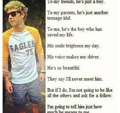 This makes me want to cry so hard!!! i would tell him how much I love him & how much he means to everyone <3