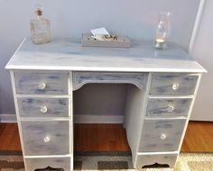 Beautiful shabby chic desk/ladies vanity