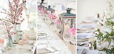 Rosas y blancos para decorar la mesa esta Primavera