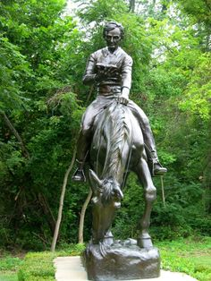 Lincoln horse statue that greets you as you enter Lincoln's New Salem State Park..Illinois