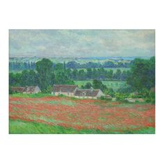 Claude Monet Field of Poppies Floral Cotton Linen Tablecloth 60