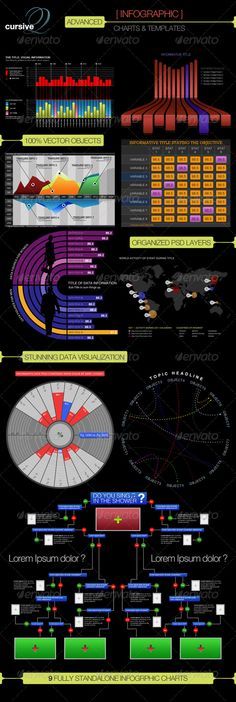 Advanced Infographic Charts and Templates  #advanced #bar graph #black • Available here → http://graphicriver.net/item/advanced-infographic-charts-and-templates/224511?s_rank=64&ref=pxcr