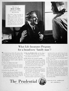 Prudential Insurance Company 1928 Ad | Prudential Insurance | Pinterest