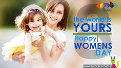 Every #Home, Every #Heart, Every #Feeling, Every Moment of Happiness is Incomplete Without #Women. Only She Can Complete This World... Happy Women's Day.  http://www.sproutzschool.in/