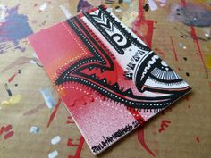 Red and black hamsa  original abstract graffiti pop by ohshanti, $30.00