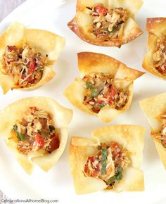 A favorite party appetizer, spicy chicken cups, combine the smoky flavor of chipotle with chicken and cheese for a delightful bite-sized treat.