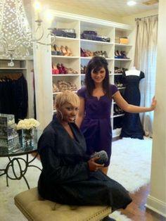 Amanda uses Organized Living Classica shelving ot organize NeNe Leakes's closet.