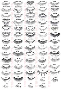 Complete Ardell Lash styles chart. Anyone try the half sets?