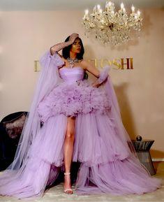 Beautiful Prom Dresses, Unique Dresses, Elegant Dresses, Pretty Dresses, Peach Gown, Princesa Peach, Purple Gowns, Gala Dresses, Prom Gowns