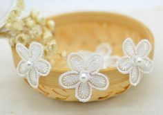 Hot Sale 5 PCS 3CM Off White Pearl Lace Patch Venice Venise Lace Trim Applique for Garment Accessories-in Lace from Home & Garden on Aliexpress.com | Alibaba Group