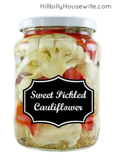 We love this sweet and tangy pickled cauliflower. Perfect for sandwiches…