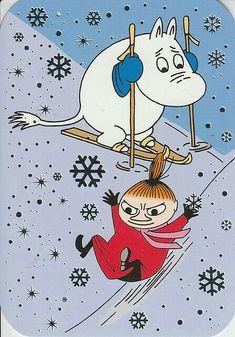 Moomin and Little My Illustrators, Illustration, Moomin, Drawing Illustrations, Christmas Cartoons, Art, Kawaii Anime, Cartoon, Fairy Tales