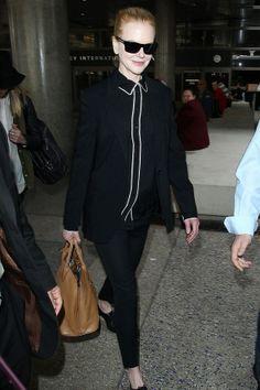 Nicole Kidman chic in all black