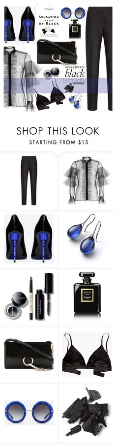 """""""black or..."""" by nataskaz ❤ liked on Polyvore featuring Vision, Philosophy di Lorenzo Serafini, Yves Saint Laurent, Bobbi Brown Cosmetics, Chanel, Chloé, Madewell, Dolce&Gabbana, Karl Lagerfeld and allblackoutfit"""