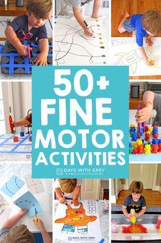 50+ Fine Motor Skills Activities