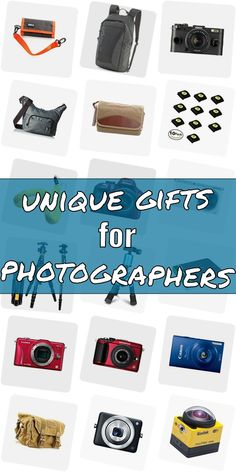 Are you searching for a present for a photographer? Then you are right Checkout our huge list of presents for phtographers. We show you great gift ideas for photographers which will make them happy. Purchasing gifts for photography lovers doenst need to be tough. And do not have to be expensive. #uniquegiftsforphotographers