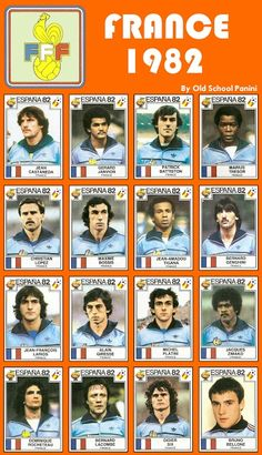 France stickers for the 1982 World Cup Finals.