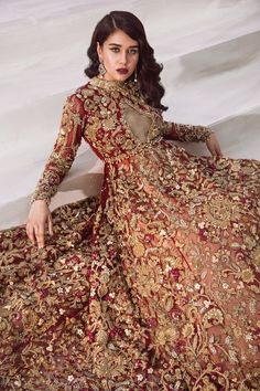 Shiza Hassan Bridal Collection 2019 Online features Pakistani Bridal & Wedding Dresses adorned with Embroidery, Zardozi, Tilla, Gold and Silver Thread Work. Pakistani Wedding Outfits, Indian Bridal Outfits, Indian Bridal Wear, Pakistani Wedding Dresses, Indian Dresses, Pakistani Bridal Couture, Designer Bridal Lehenga, Bridal Lehenga Choli, Dulhan Dress