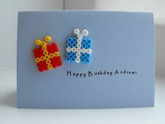 Birthday card - hama beads | par Wepo Designs
