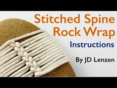 Stone Crafts, Rock Crafts, Fun Crafts, Arts And Crafts, Zen Rock, Rock Art, Stone Wrapping, Nature Crafts, Craft Tutorials