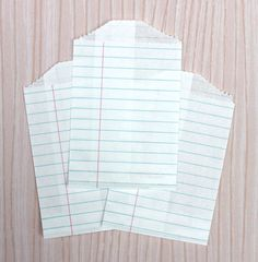Back to school idea...make bags out of ACTUAL loose leaf paper