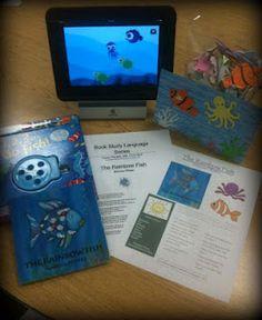 Listening to Beautiful Speech: Book Unit Series - The Rainbow Fish Education And Literacy, Education Degree, Teaching Schools, Elementary Schools, Library Activities, Creative Activities, Reading Activities, Tot School, Summer School
