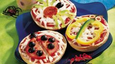 Crazy Critter Bagel Sandwiches: These are so cute and simple.  You could put out the toppings and let the kids come up with their own ideas.