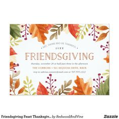 Thanksgiving Invitation Thanksgiving Invite  Thanksgiving