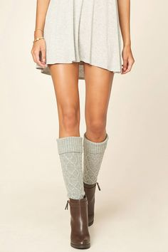 Cable Knit Knee-High Socks | Forever 21 - 2000215307