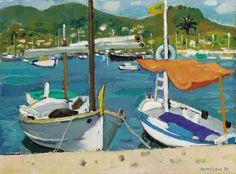 Alberto Morrocco - Boats at Andraitx, Mallorca