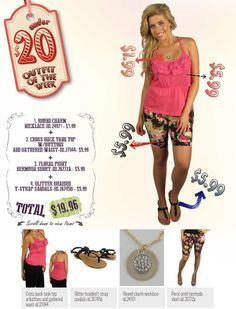 """599fashion.com - Everything $5.99 or Less Check out this weeks """"UNDER $20 Outfit"""", a complete look for under $20.00"""