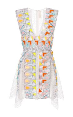 Embellished White Phoenicia Dress by Peter Pilotto