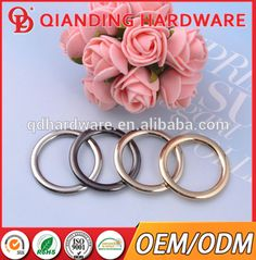 Fashion alloy metal O ring for bags parts and accessories