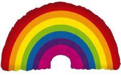 rainbow mylar balloon