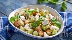 Освежающий салат с дыней
