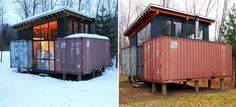 tiny houses – cargo containers.  An interesting concept, but how well does it work with snow?
