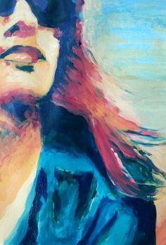 self portrait painting ~ a process post {Tara Leaver}