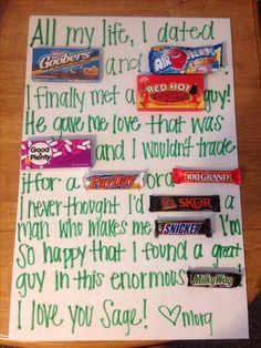How cute & creative! & hey, who doesn't like getting chocolate?!