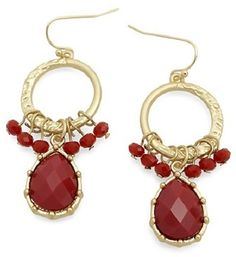 #OpenSky                  #Women                    #Tear #drop #Earrings     Tear drop Earrings in Red                           http://www.seapai.com/product.aspx?PID=5812658