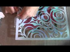 Art Journal Stencil Mixed Media Packing Tape Transfer - YouTube