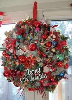 Retro Christmas Wreath DIY