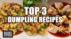 Top 3 Dumpling Recipes – Marion's Kitchen Asian Recipes, New Recipes, Ethnic Recipes, Asian Foods, Laos Food, Dumpling Recipe, Dumpling Soup, Asian Kitchen, Thai Dishes