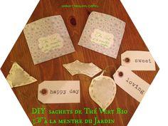 Mon 1er Swap : le Barjo Nowel de ma swappée #1 (tutos inside) - Wow ... Mum !! Diy Tea Bags, Happy Day, Mom Of Twins, Coffee Filters, Christmas Projects, Mint, Green