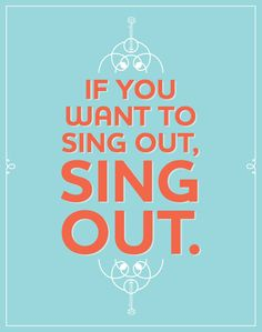 "Harold & Maude ""If you want to sing out, sing out."" Mini Poster"